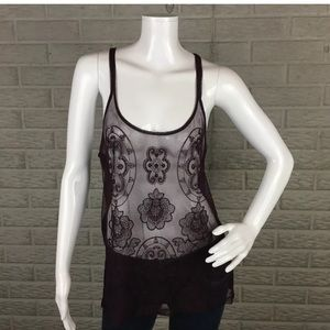 American Eagle Tank Sheer Boho Bead Embellished